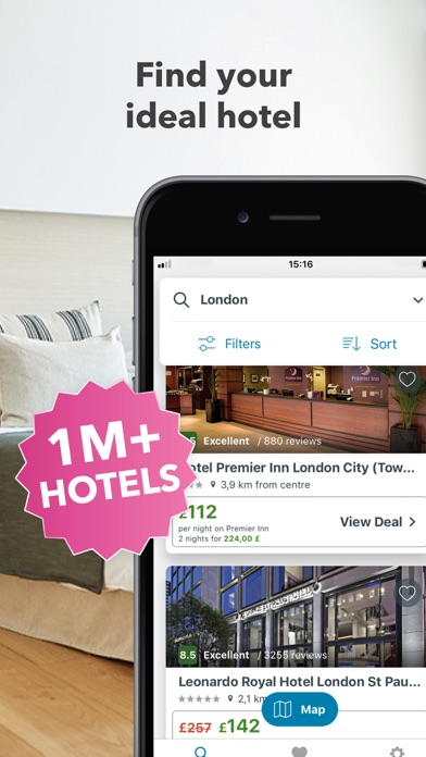 Screenshot for trivago: Compare Hotels & Save in Azerbaijan App Store