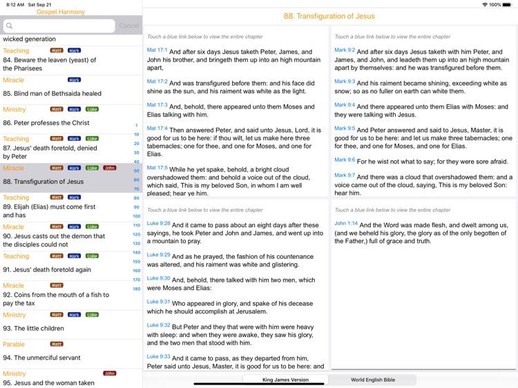Gospel Harmony for iPad