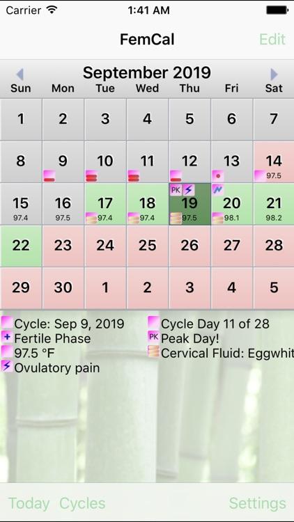 FemCal: The Fertility Calendar