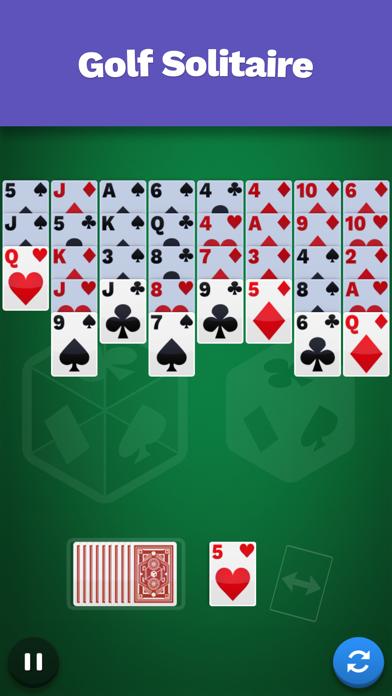 Golf Solitaire Cube screenshot 1
