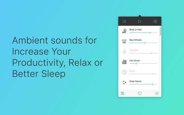 Noizio — focus, relax, sleep Screenshot