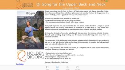 Qi Gong for Upper Back & Neck screenshot two