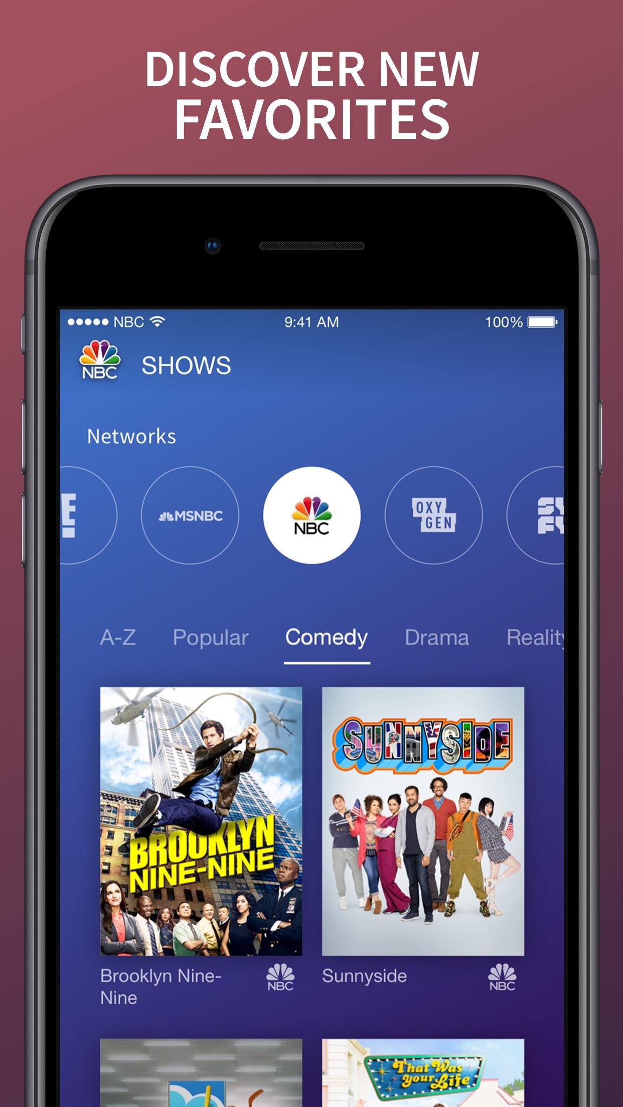 The NBC App – Stream TV Shows Screenshot