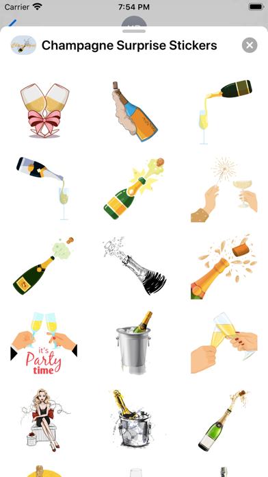 Champagne Surprise Stickers screenshot 2