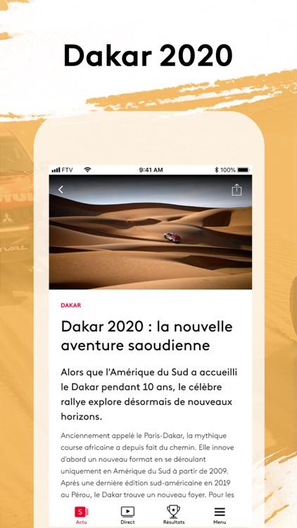 France tv sport : Dakar 2020 screenshot-0