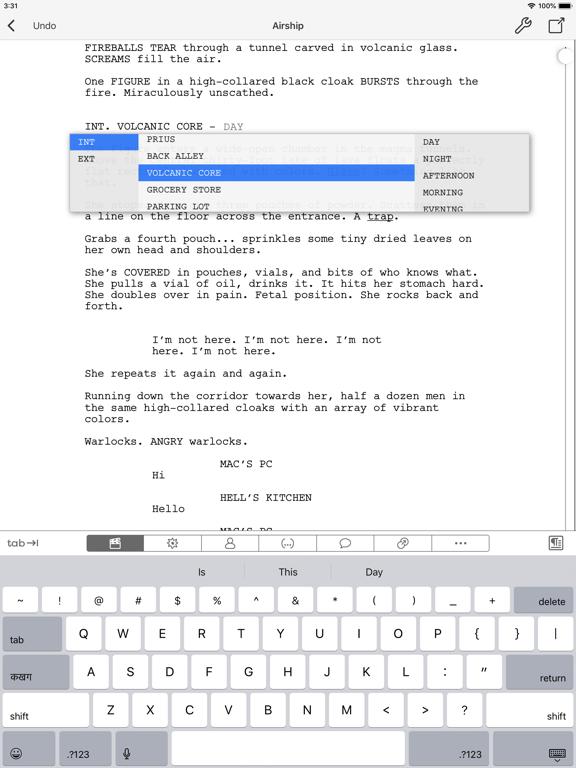 Final Draft Mobile Screenshot 0