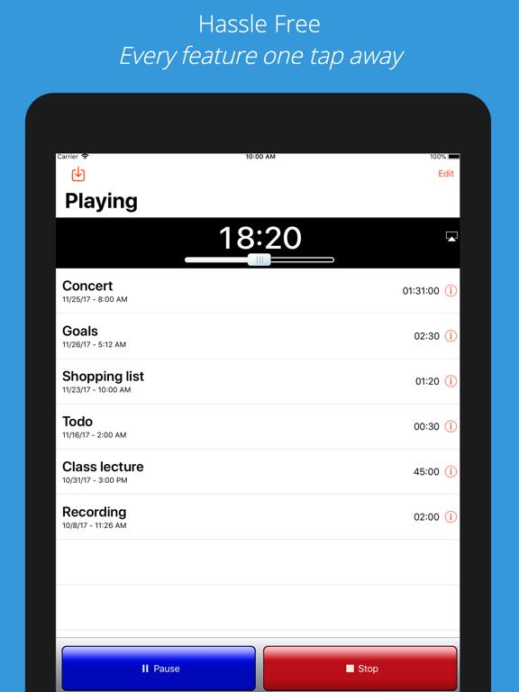 iRecorder Pro Audio Recorder Screenshots