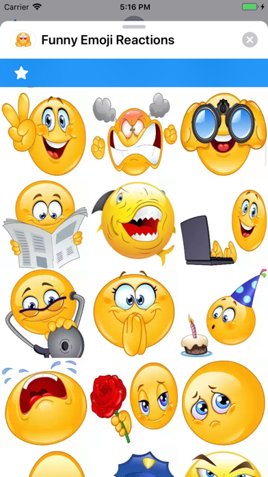 Screenshot for Funny Emoji Reactions in South Africa App Store