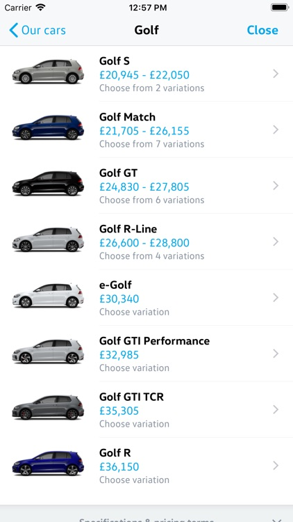 Volkswagen UK Car Configurator