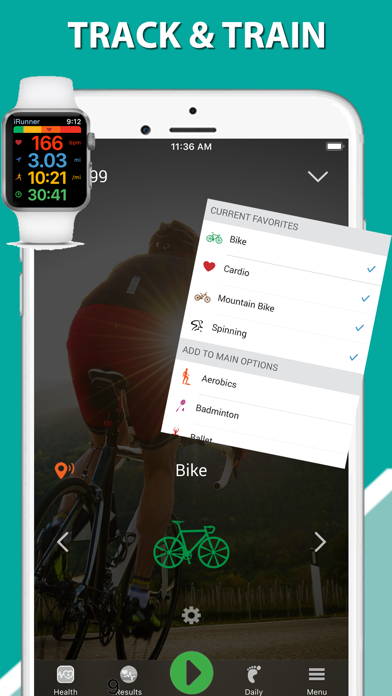 iBiker Cycling & Heart Trainer screenshot one