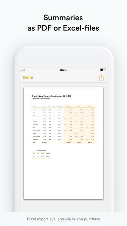 Splid – Split group bills screenshot-3