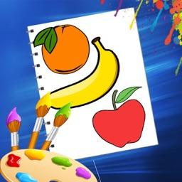 Fruit & Vegetables Coloring