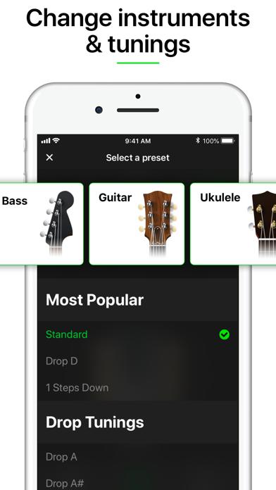Guitar Tuner Pro, Bass,Ukulele Screenshot
