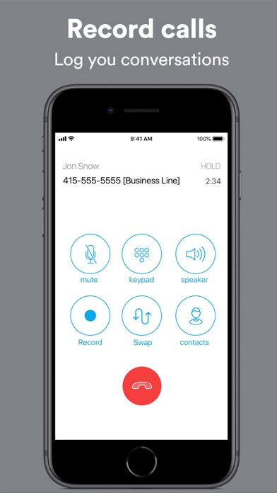 Ring4: Second Phone Number App Screenshot
