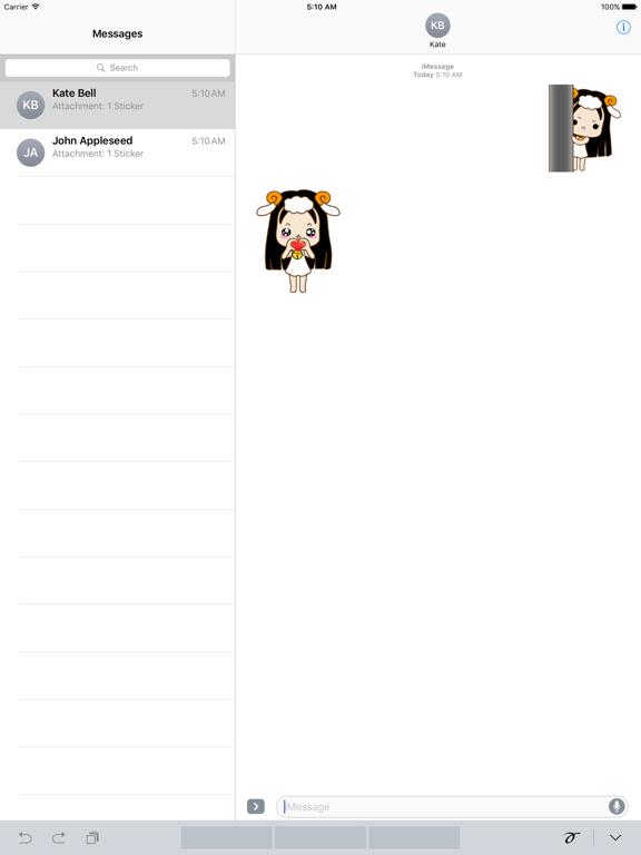 Animated Cute Aries Girl Emoji screenshot 4