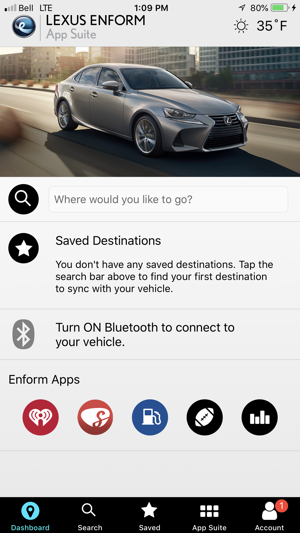 Lexus Enform App Suite on the App Store