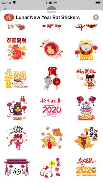 Lunar New Year Rat Stickers screenshot 2