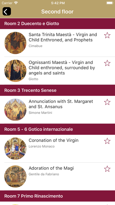 Screenshot of Uffizi Gallery4