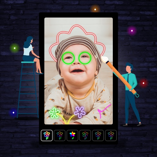 Coloring book with glow draw