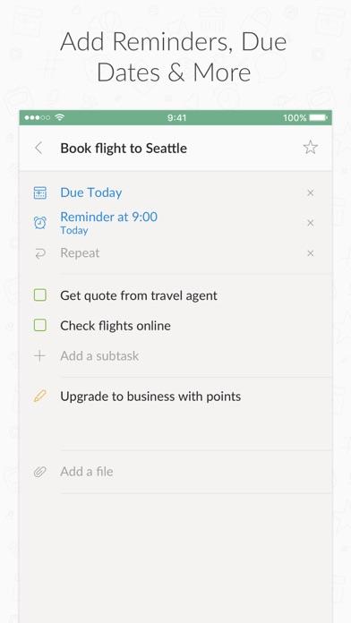 Wunderlist: To-Do List & Tasks Screenshot on iOS