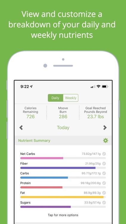 MooveFit Calorie & Diet Diary screenshot-0