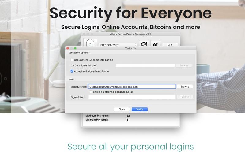 ellipticSecure Device Manager скриншот программы 4