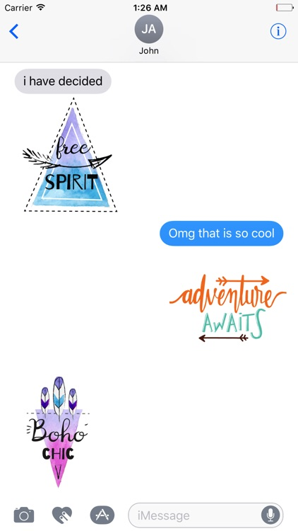 Animated BOHO Quotes Stickers