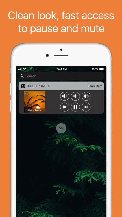 SonoControls: Widget for Sonos