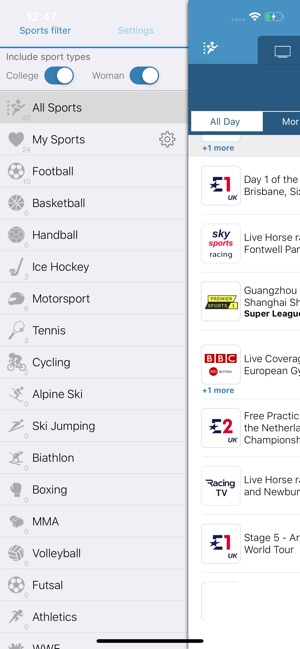 Live Sport TV Listing Guide on the App Store