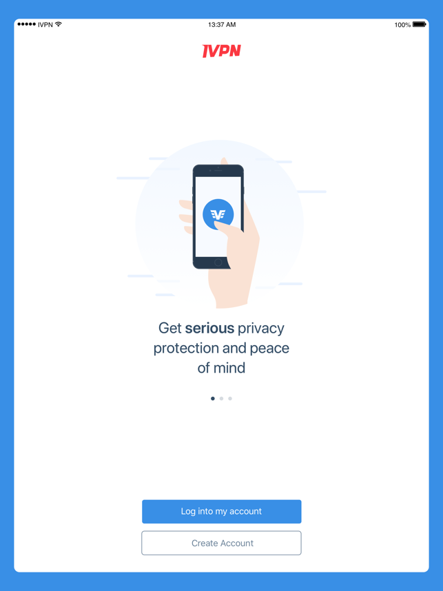 ‎IVPN - Privacy & Security VPN Screenshot