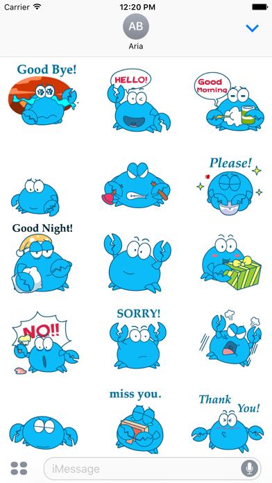 Animated Blue Crab Stickers screenshot 2