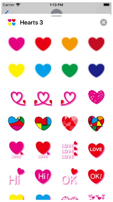 Hearts 3 Stickers Screenshot