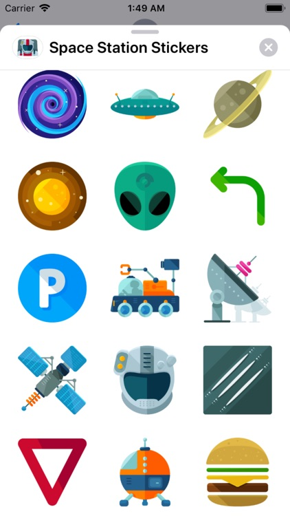 Space Station Stickers