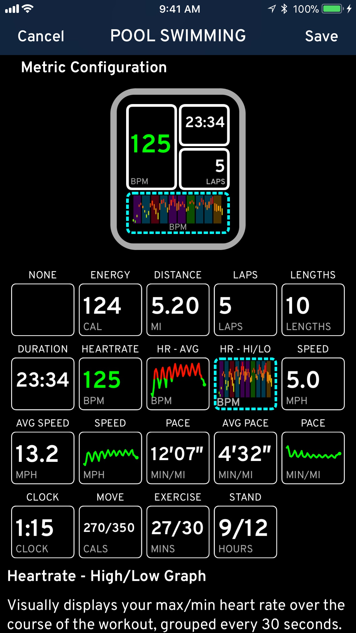 Screenshot do app Workouts++