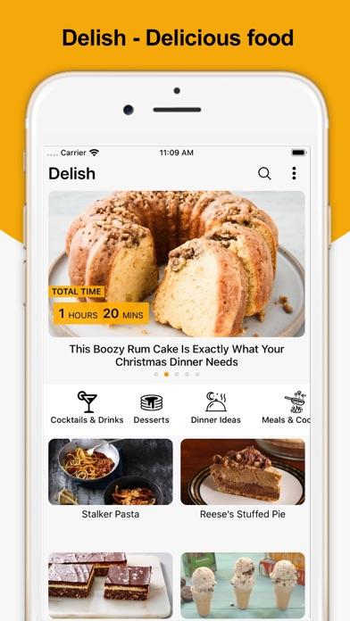 Delish - Delicious food Screenshot