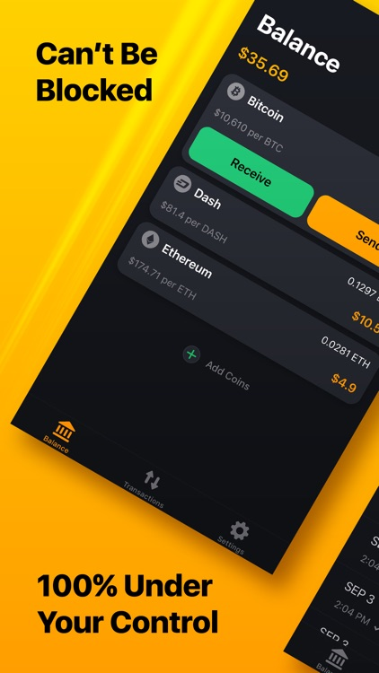UNSTOPPABLE - Bitcoin Wallet screenshot-0