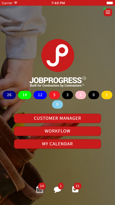 JobProgress screenshot one