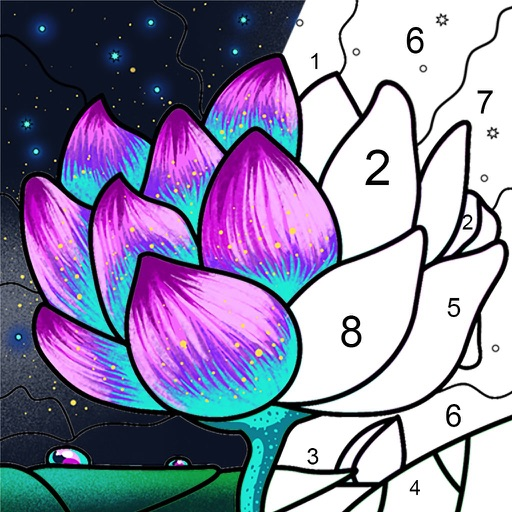 Paint by Number Coloring Games icon
