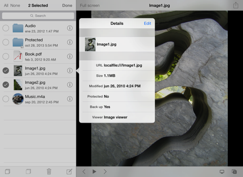 Screenshot of USB Disk SE - File Manager