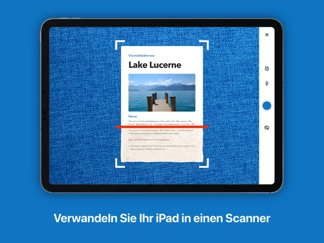 Scanner: PDF-Dokument scannen Screenshot