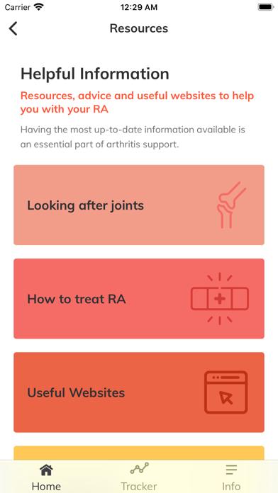 RAISE: Rheumatoid Arthritis screenshot two