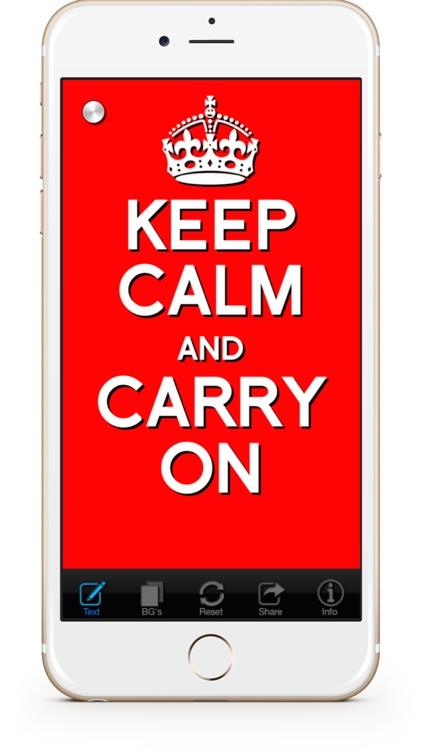 Keep Calm & Carry On:Original screenshot-0