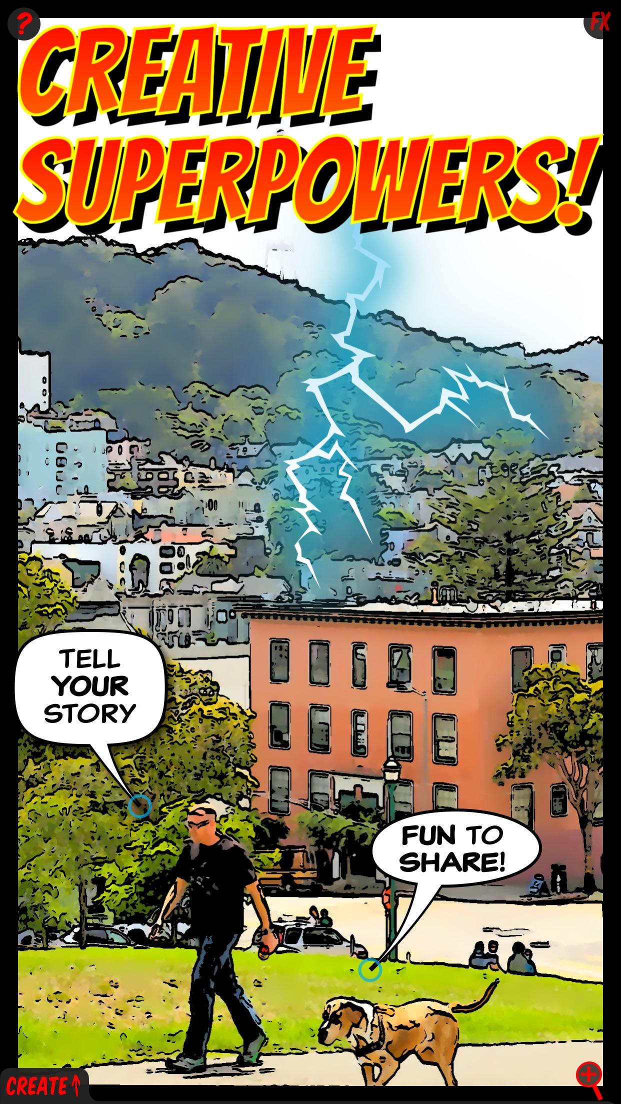 Screenshot do app ComicBook!