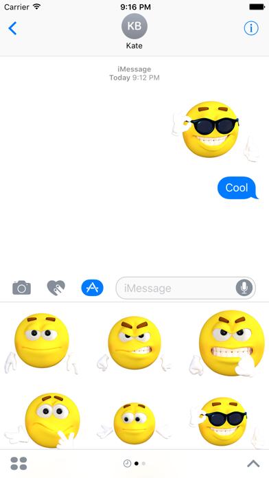 Funny Emoji Stickers screenshot two
