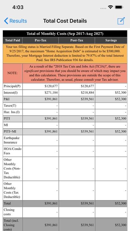 Loan Calculator & Tax Savings screenshot-3
