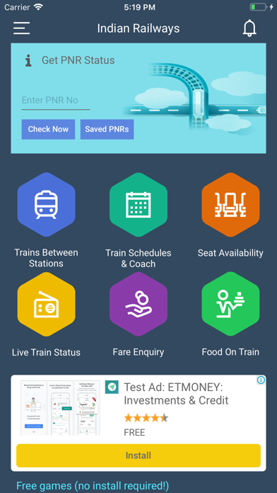 Indian Railway Train Enquiry By Smartapps India Ios United