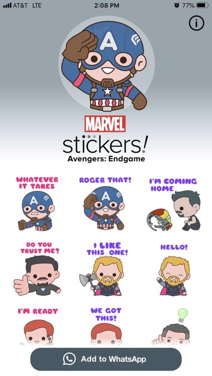 Avengers: Endgame Stickers screenshot-4