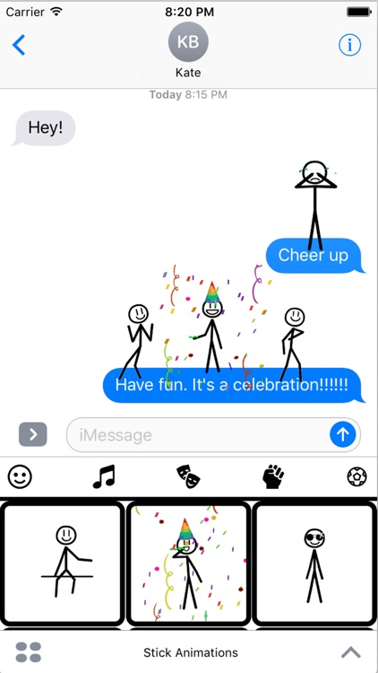 Stickmoji Stickers Animations screenshot-0