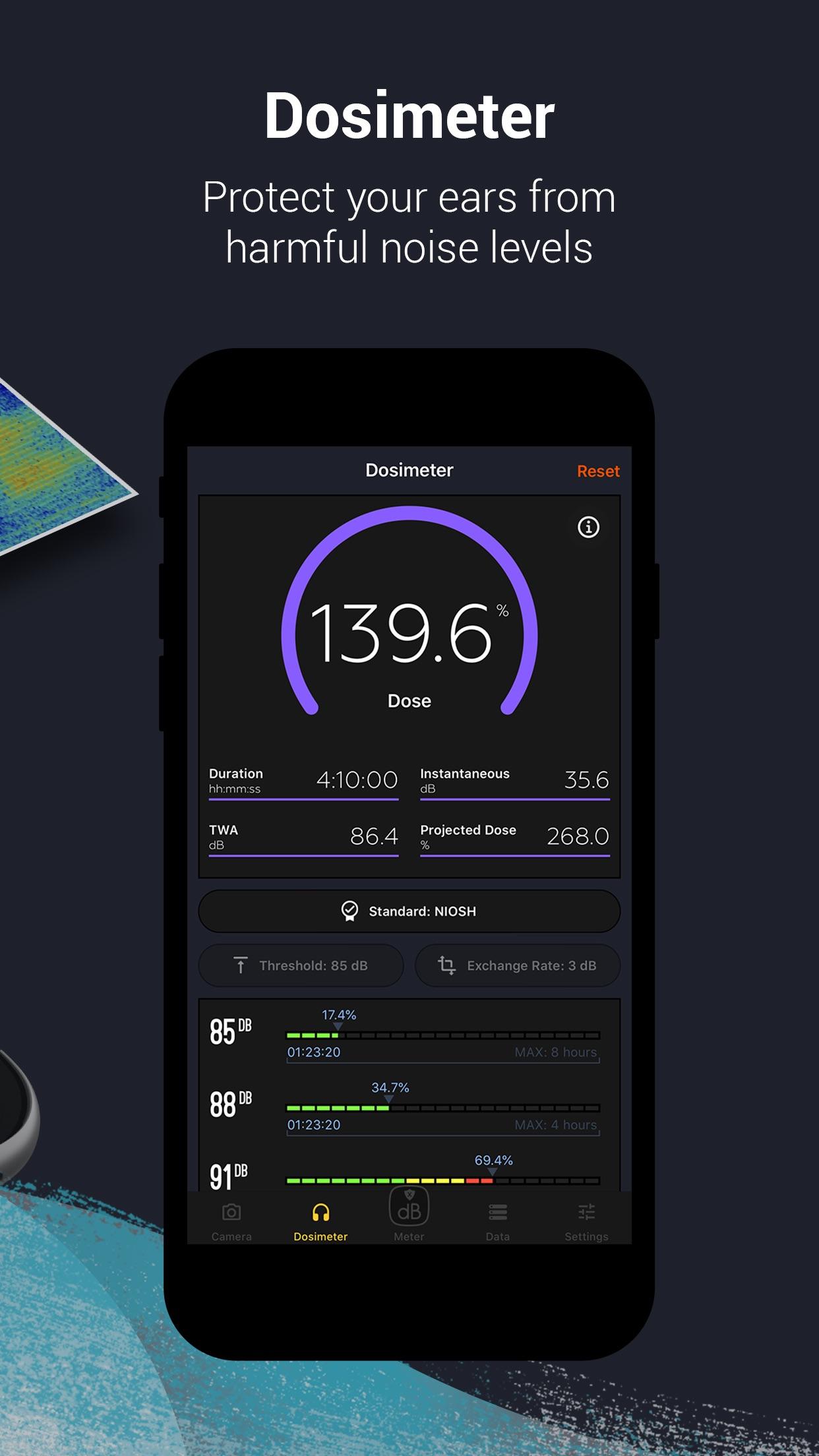 Decibel X:dB Sound Level Meter Screenshot