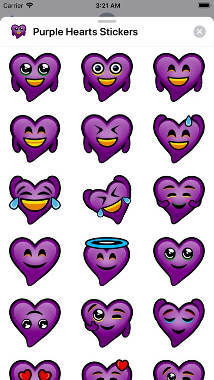 Purple Hearts stickers